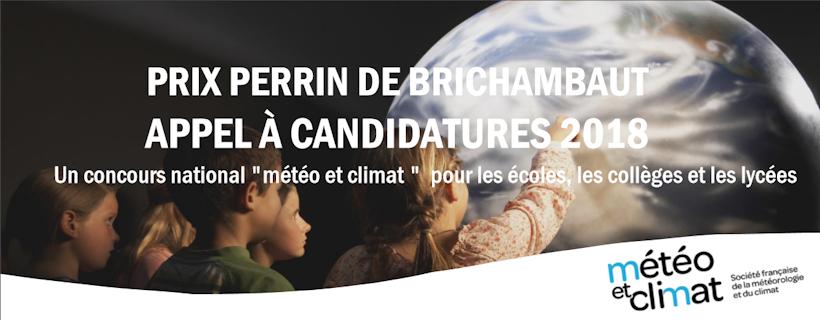 Appel à candidature Météo et climat «Prix Perrin de Brichambaut 2018»