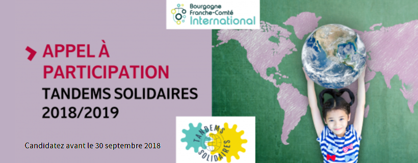 Appel à participation au dispositif « Tandems Solidaires » 2018-2019