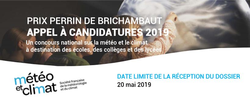 Appel à candidature Météo et climat « Prix Perrin de Brichambaut 2019 »