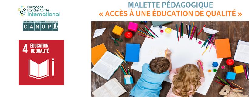 Mallette pédagogique « Accès à une éducation de qualité »