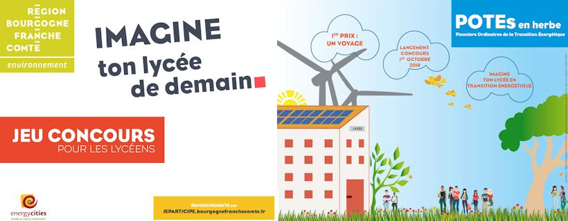 Jeu-concours « POTEs en herbe 2018-2019 : imagine ton lycée de demain qui a réussi sa transition énergétique »