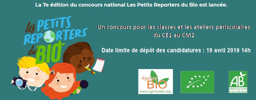 Concours « Les Petits Reporters du Bio » – 7ème édition
