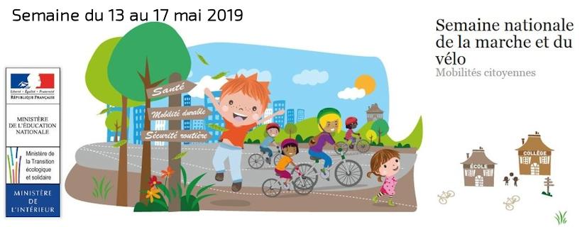 Semaine nationale de la marche et du vélo 2019