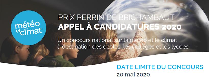 Appel à candidature Météo et climat « Prix Perrin de Brichambaut 2020 »