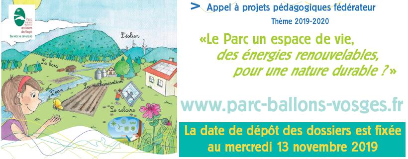Appel à projets pédagogiques du Parc des Ballons des Vosges
