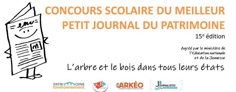 15ème édition du concours scolaire du meilleur Petit Journal du Patrimoine