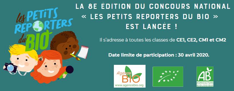 Concours « Les Petits Reporters du Bio » – 8ème édition