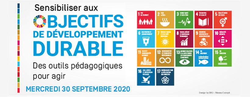 """Journée """"Sensibiliser aux Objectifs de Développement Durable : des outils pour agir"""""""