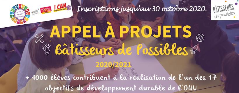 Appel à projets : Bâtisseurs de possibles 2020-2021