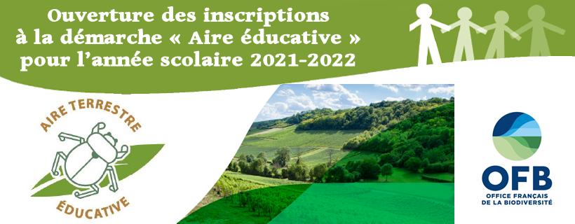 Ouverture des inscriptions à la démarche « Aire éducative » pour l'année scolaire 2021-2022