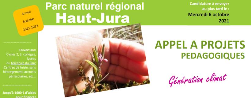 Appel à projet PNR Haut Jura 2021-2022