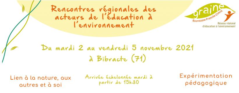 Rencontres régionales des acteurs de l'éducation à l'environnement 2021